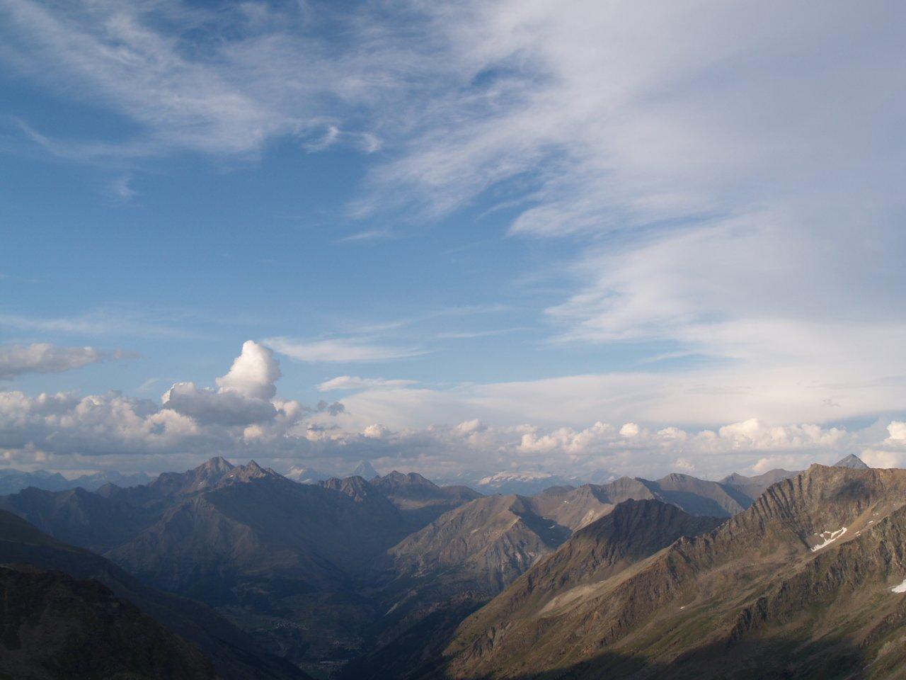 Pohled k Savojským Alpám